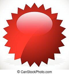 Price flash, starburst, sunburst badge in vivid color with highlight