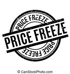Price Freeze rubber stamp. Grunge design with dust...