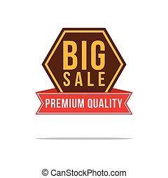 Price label big sale discount elegant style