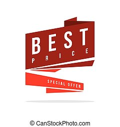 Price label spesial offer sale best