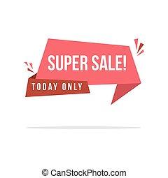 Price label style big sale discount