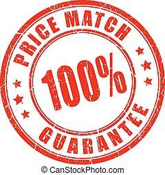 Price match guarantee business stamp
