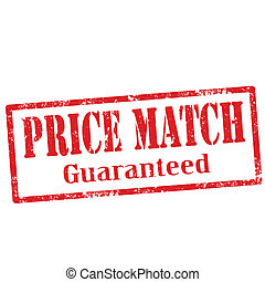 Grunge rubber stamp with text Price Match, vector illustration