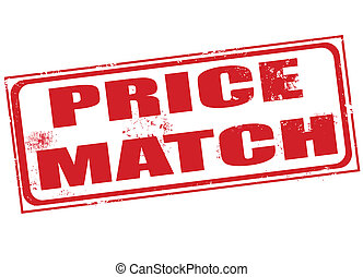 price match grunge stamp with on vector illustration