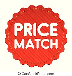 Price match tag label