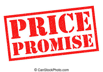 PRICE PROMISE red Rubber Stamp over a white background.
