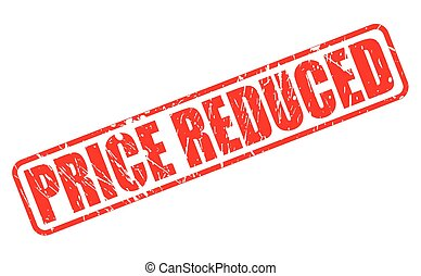 Price reduced red stamp text
