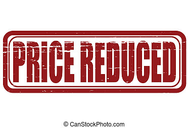 Price reduced - Stamp with text price reduced inside, vector...