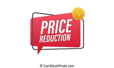Price reduction banner template design. Sale special offer. Motion graphics