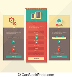 Price table vector UI