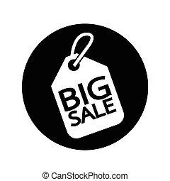 Price tag big sale illustration design