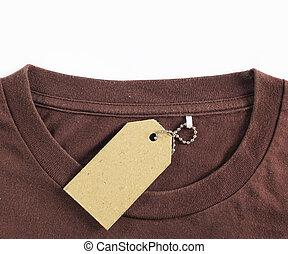price tag hang over tshirt - price tag hang over brown...