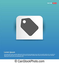 price tag icon - Blue Sticker button