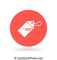 Price tag icon. Coupon sign. Label symbol. Vector illustration.