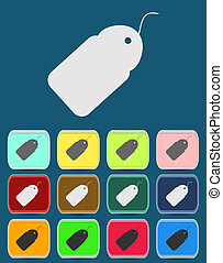 price tag icon. vector illustration