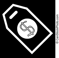 Price tag icon with dollar sign