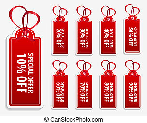 Price Tag Label - This image is a vector file representing a...