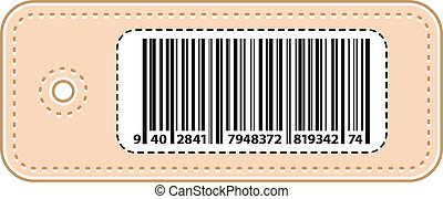 Price Tag Label With Bar Code Vector Illustration