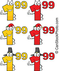 Price Tag Numbers Collection Set 4