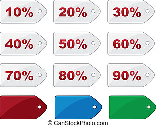 Price Tag Percentages