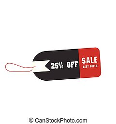 Price Tag Sale Best Offer 25% Off Vector Image