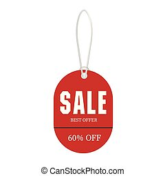 Price Tag Sale Best Offer 60% Off Vector Image