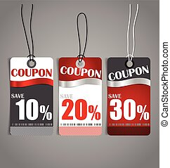 Price tag, sale coupon, voucher. Vintage Style template...