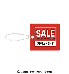 Price Tag Sale Special Offer 25% Off Vector Image