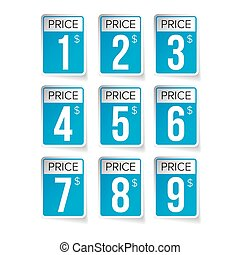 Price tag set vector labels