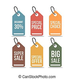 Price Tag Set Vector Template Design