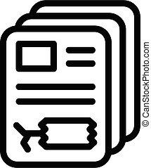 Price tag sticker icon, outline style - Price tag sticker ...