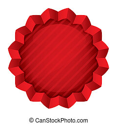Price tag template. Red round star sticker