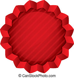 Price tag template. Vector red round star sticker