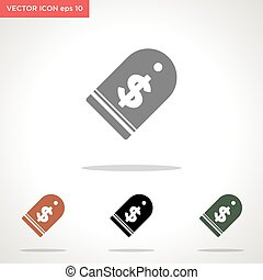 price tag vector icon isolated on white background