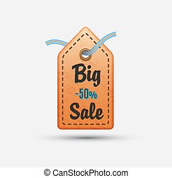 Price tag with big sale -50%