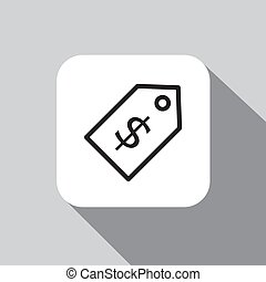 Price tag with dollar sign icon
