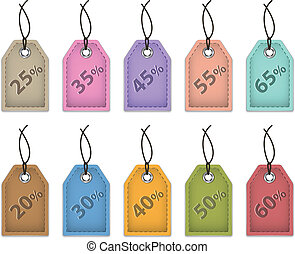Price tags for sale - Colorful price tags for sale. Shopping...