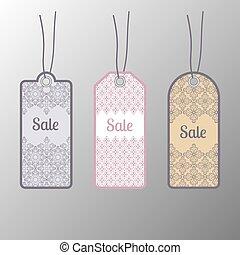 Price tags, label. Floral design