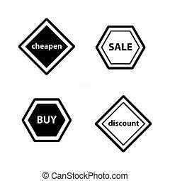 Price tags, label set design