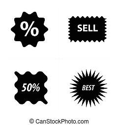 Price tags, label set