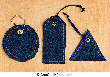 Price tags made of jeans