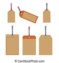 Price tags retro design vector - Set of blank price tags...
