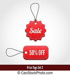 Price tags set 2. - 3D Price tags set 2. Vector illustration...