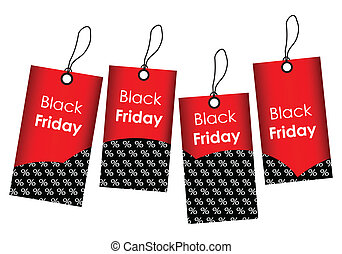 price tags with black friday design
