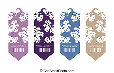 Price tags with floral design
