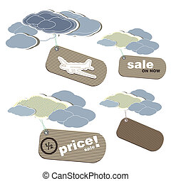 Price tags with sale elements