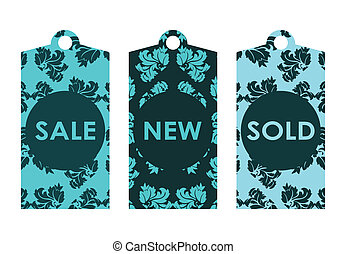 price tags with vintage design