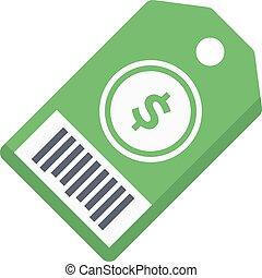 price tag vector colour flat icon