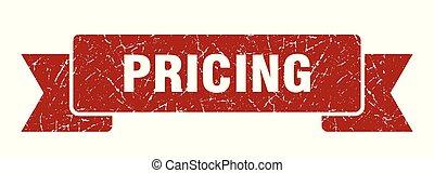 pricing grunge ribbon. pricing sign. pricing banner
