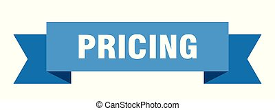 pricing ribbon. pricing isolated sign. pricing banner